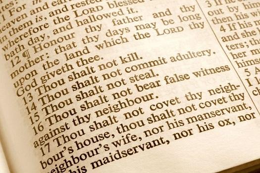 Israelites/Europeans to follow the Ten Commandments