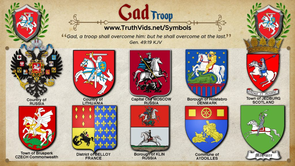 Heraldry of Gad a tribe of Israel the Troop Symbol