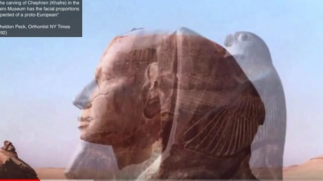 Egyptian Sphinx was White Caucasian
