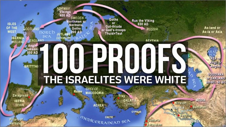 100 Proofs the Israelites were WHITE